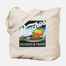 Peaches Records and Tapes logo Tote Bag