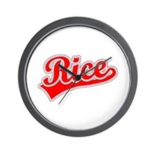 Retro Rice (Red) Wall Clock