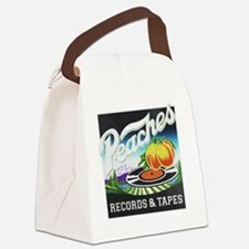 Peaches Records and Tapes logo Canvas Lunch Bag