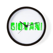 Giovani Faded (Green) Wall Clock
