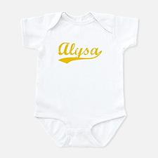 Vintage Alysa (Orange) Onesie