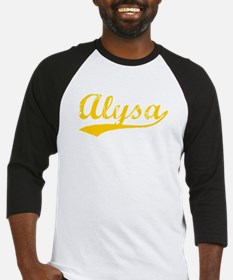 Vintage Alysa (Orange) Baseball Jersey