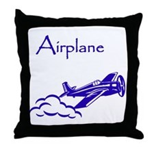 The Blue Plane Throw Pillow