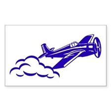 The Blue Plane Rectangle Decal