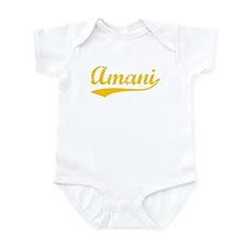 Vintage Amani (Orange) Onesie