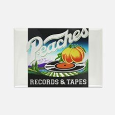 Peaches Records and Tapes logo Magnets