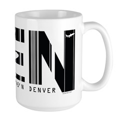 Denver Colorado DEN Air Wear Large Mug