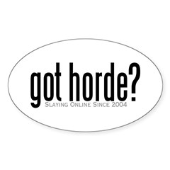 got horde Oval Decal