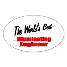 """The World's Best Illuminating Engineer"" Decal"
