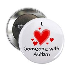 I Heart Someone With Autism Button