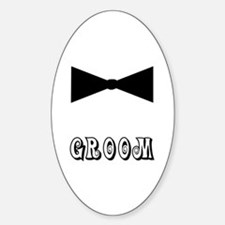 Black Tie GROOM Oval Decal