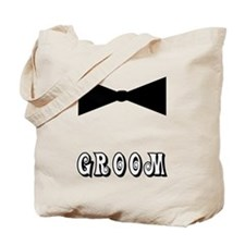 Black Tie GROOM Tote Bag