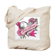 Heart & Roses Tote Bag