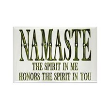 ...Namaste (U.S)... Rectangle Magnet