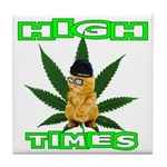 High Times Kitty Tile Coaster