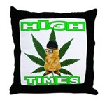 High Times Kitty Throw Pillow
