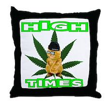 High Times Kitty Throw Pillow