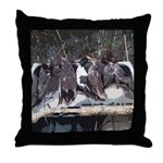 Seven Ducks Throw Pillow