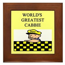 cabbie gifts t-shirts Framed Tile