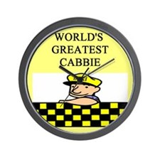 cabbie gifts t-shirts Wall Clock