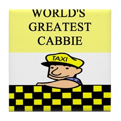 cabbie gifts t-shirts Tile Coaster