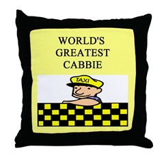 cabbie gifts t-shirts Throw Pillow