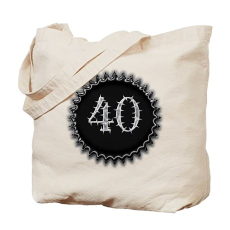 Black 40th Birthday Tote Bag