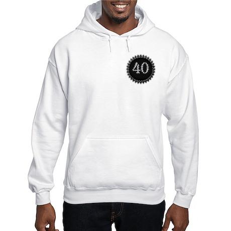 Black 40th Birthday Hooded Sweatshirt