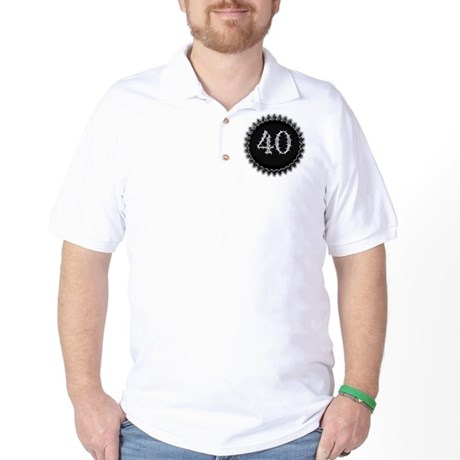 Black 40th Birthday Golf Shirt