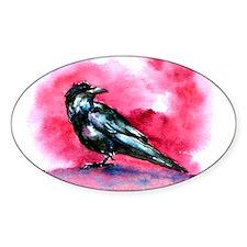 Bird Art Oval Decal