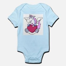 Smiley Love Heart Unicorn / Pegasus Infant Creeper