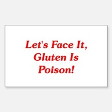 Gluten Is Poison! Rectangle Decal