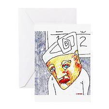 Crying Boy Greeting Card