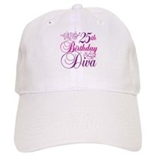 25th Birthday Diva Baseball Cap