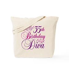 35th Birthday Diva Tote Bag