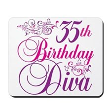 35th Birthday Diva Mousepad