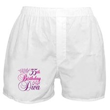 35th Birthday Diva Boxer Shorts