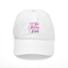35th Birthday Diva Baseball Cap