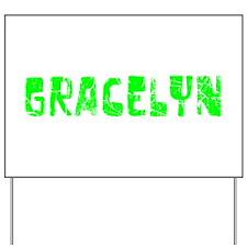Gracelyn Faded (Green) Yard Sign