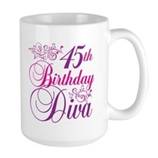 45th Birthday Diva Mug