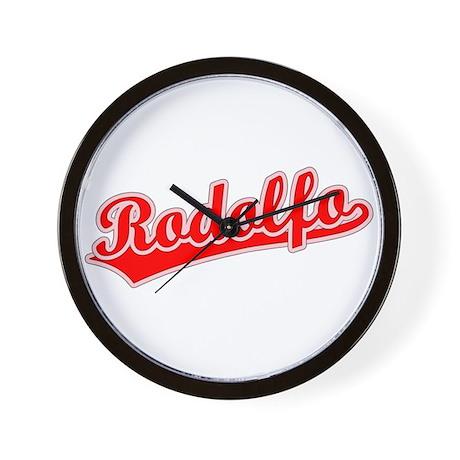 Retro Rodolfo (Red) Wall Clock