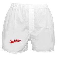 Retro Rodolfo (Red) Boxer Shorts
