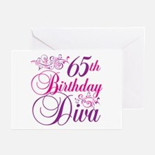 65th Birthday Diva Greeting Cards (Pk of 20)