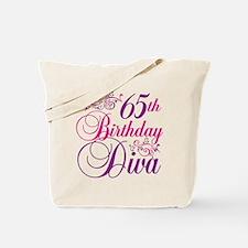 65th Birthday Diva Tote Bag