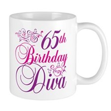 65th Birthday Diva Mug
