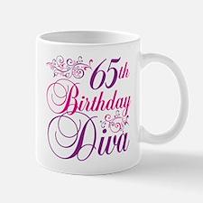 65th Birthday Diva Mug