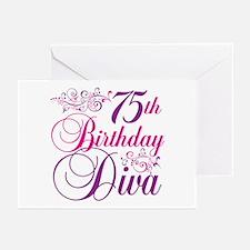 75th Birthday Diva Greeting Cards (Pk of 20)