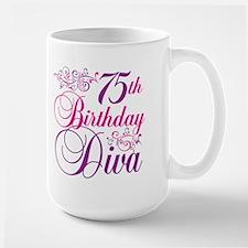 75th Birthday Diva Mug
