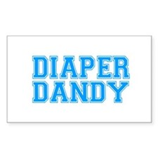 Diaper Dandy Rectangle Decal