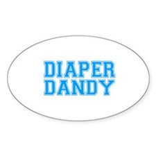 Diaper Dandy Oval Decal